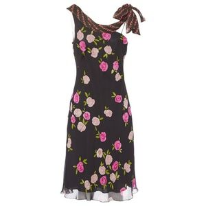 Moschino Cheap And Chic Silk Floral Midi Dress